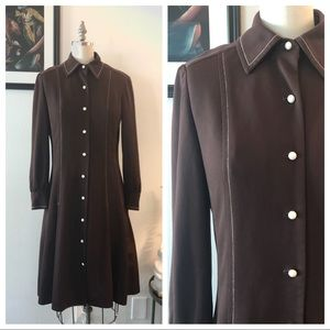 Vintage Dresses - 1970s shirtdress FRED ROTHECHILD